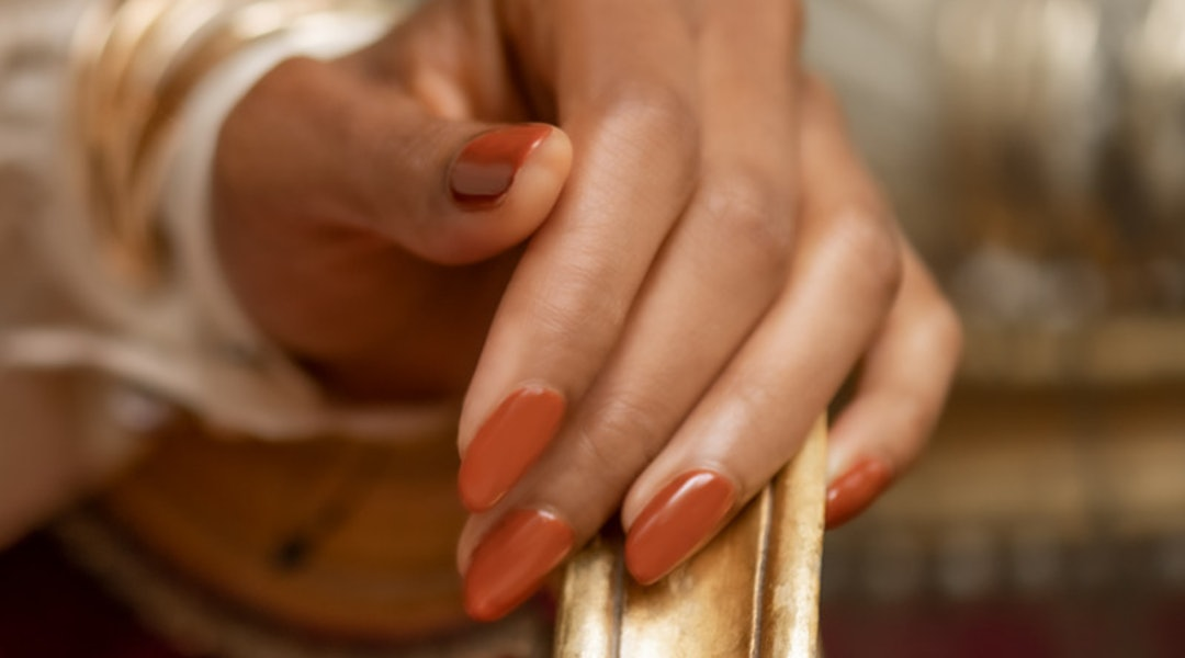 Ulta's Muse of Milan collection painted on model's nails.