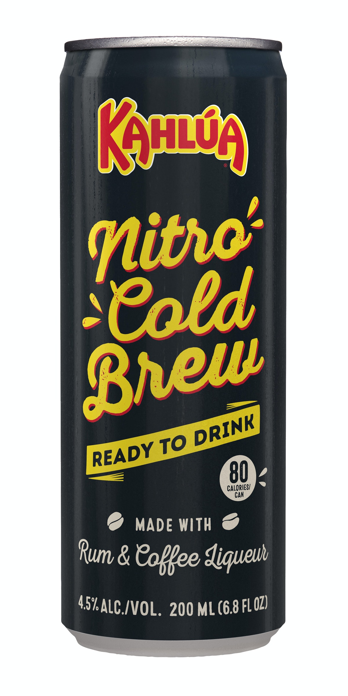 Kahlúa's new Nitro Cold Brew Cans feature rum and 100% Arabica cold brew.