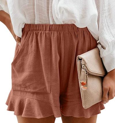 HUUSA Drawstrings Shorts with Pockets