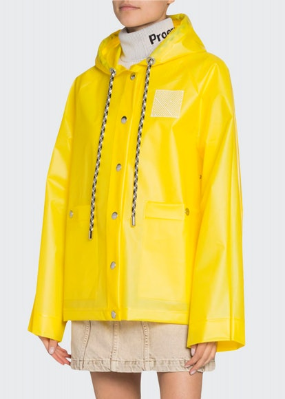 Logo-Print Short Raincoat