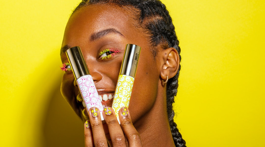 Mascara and nail stickers from the Ciaté London x SmileyWorld collaboration.