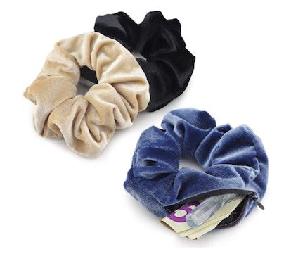 LokiStashed Velvet Hair Tie Scrunchies (3-Pack)