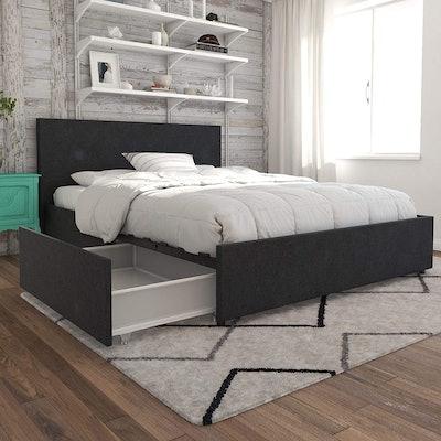 Novogratz Kelly Queen Size Bed With Storage