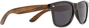 Woodies Wooden Sunglasses With Black Polarized Lens