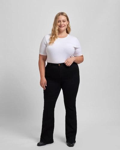 Sava High Rise Flare Jeans - Black