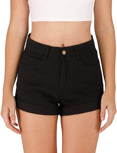 Haola High Waisted Jean Shorts