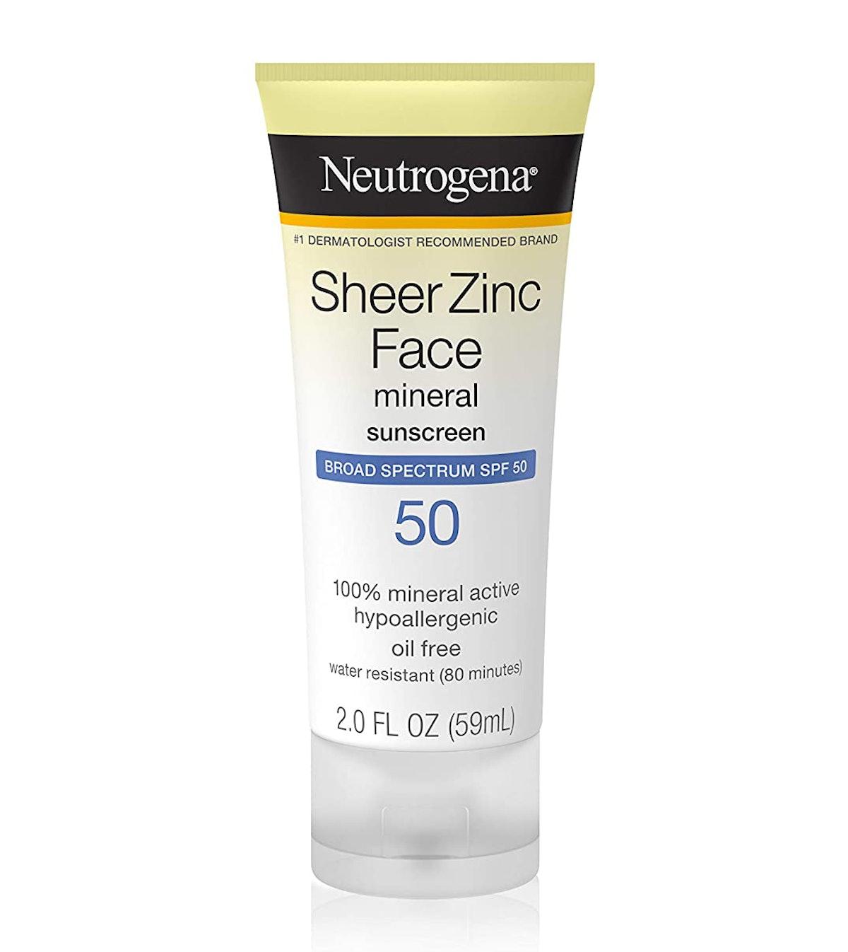Neutrogena Sheer Zinc Face Mineral Sunscreen SPF 50