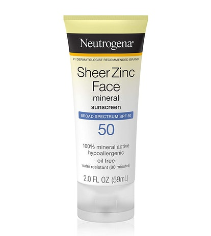 Neutrogena Sheer Zinc Face Mineral Sunscreen SPF 50