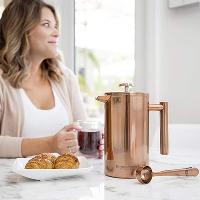 Olive + Crate Stainless Steel French Press (34 Ounces)