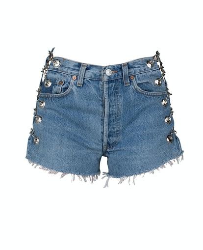 Vintage Blue Chain Shorts