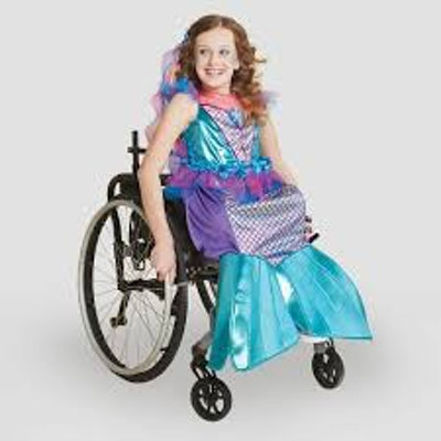 Kids' Adaptive Mermaid Costume Dress With Headpiece