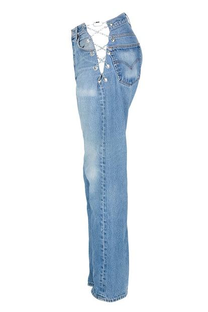 Vintage Blue Chain Pant