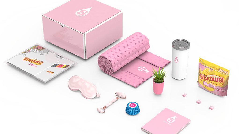 Here's how to get a Starburst All Pink Self-Care Kit to feel pampered.