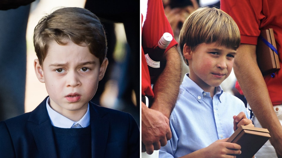 If you look closely at Prince George's seventh birthday photos, you will probably be amazed at just how much he looks like his dad Prince William.