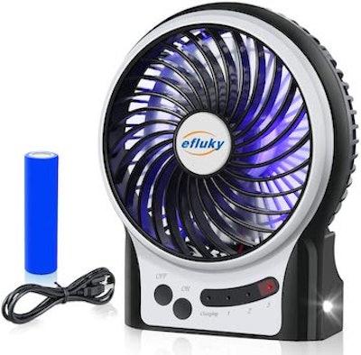 efluky Mini Desk Fan