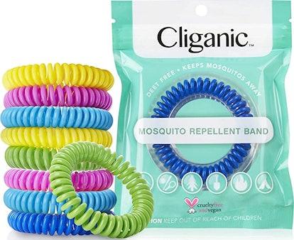Cliganic 10 Pack Mosquito Repellent Bracelets