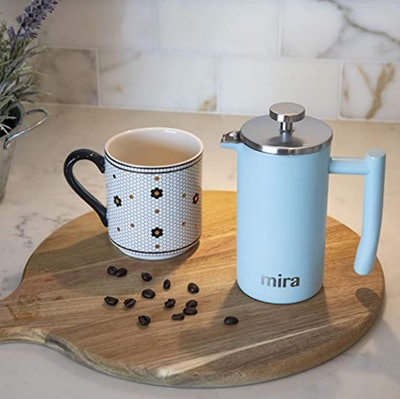 MIRA Stainless Steel French Press (12 Ounces)