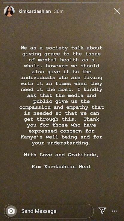 Kim Kardashian Kanye West statement