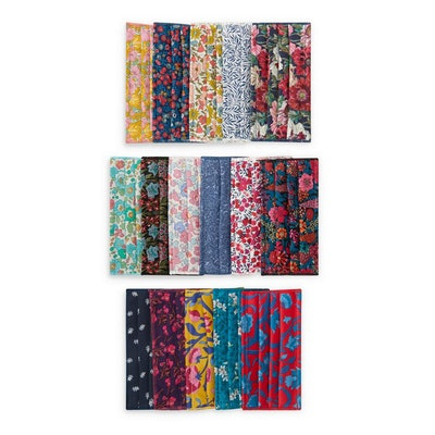 Liberty of London Assorted Upcycled Tana Lawn Cotton Face Coverings, Set of Five