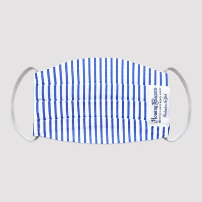 Rowing Blazers Blue Candy Stripe Face Mask