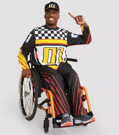 Adult Adaptive Race Car Halloween Costume Jumpsuit With Hat
