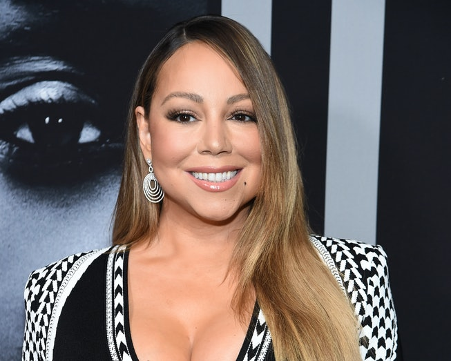 """Mariah Carey attends the premiere of Tyler Perry's """"A Fall From Grace"""" at Metrograph on January 13, ..."""