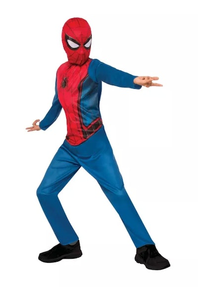 Kids' Marvel Spider-Man (Blue/Red) Halloween Costume Jumpsuit with Mask