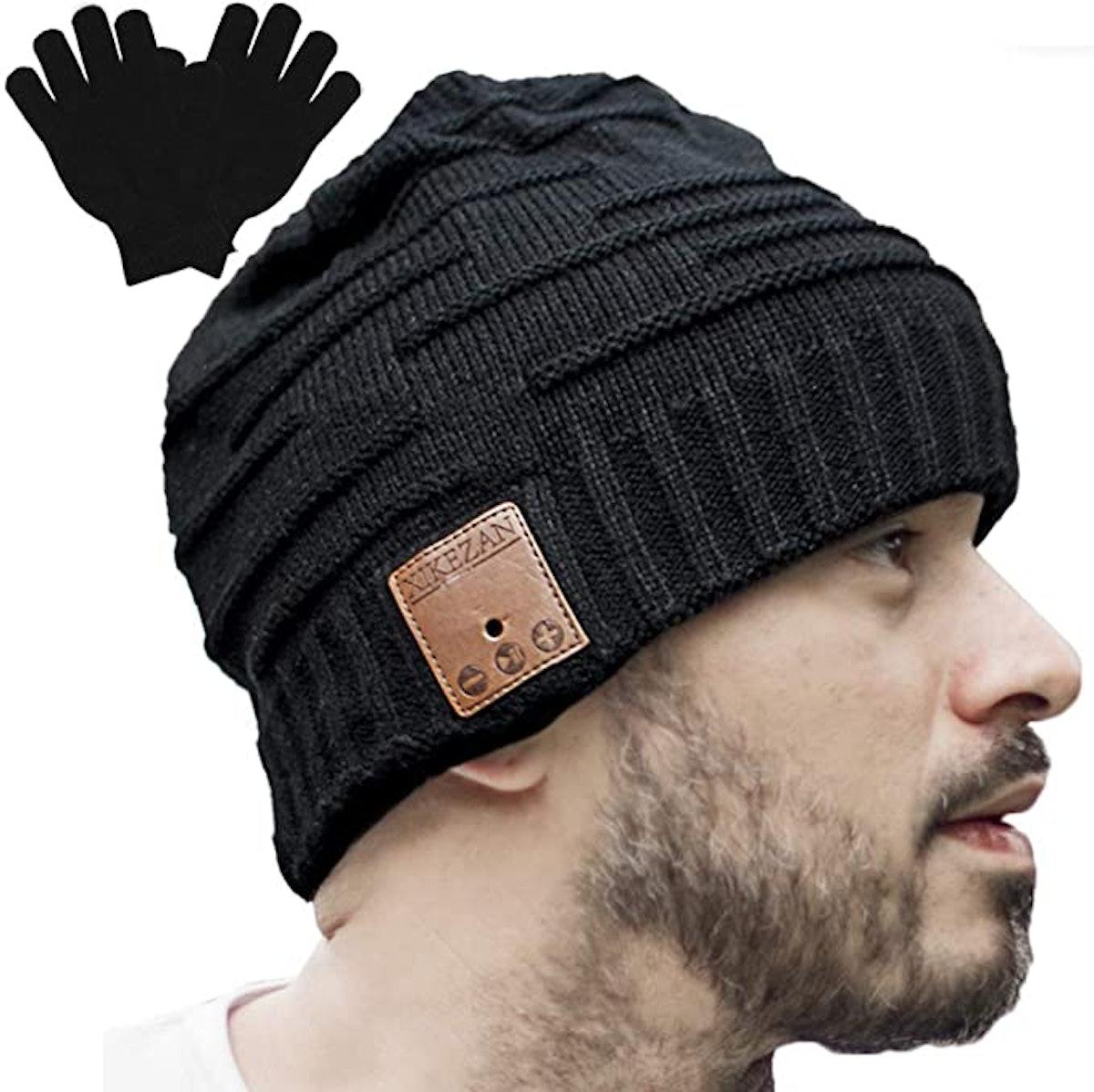 XIKEZAN Unisex Knit Bluetooth Beanie