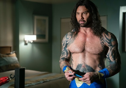 Dave Bautista as Raw Dog Avalance in 'Room 104'