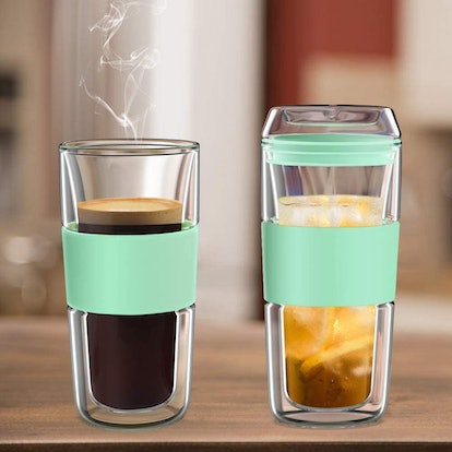 BINE Double Wall Insulated Glass Tumbler