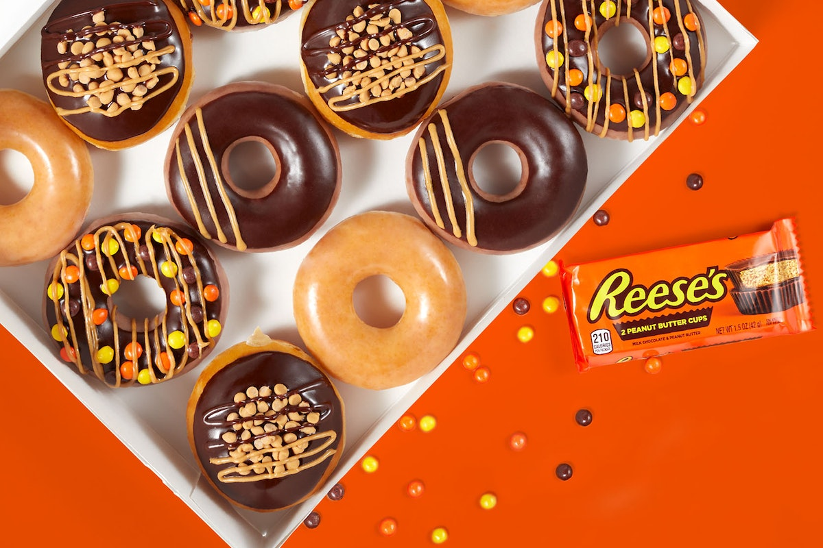Here's how to vote for Krispy Kreme's permanent Reese's doughnut after they appear in store location...