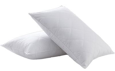 Three Geese White Goose Feather Bed Pillow (2-Pack)