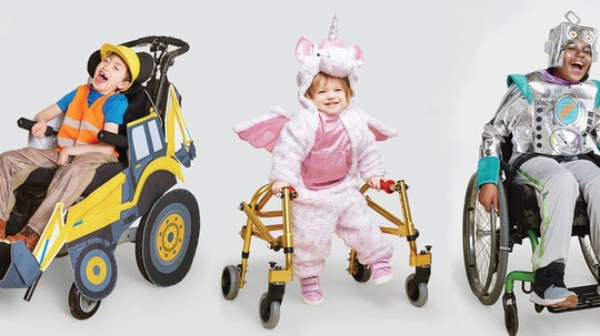 kids wearing target's adaptive halloween costumes