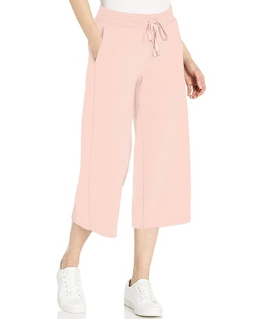 Amazon Essentials Women's French Terry Fleece Wide-Leg Crop Sweatpant