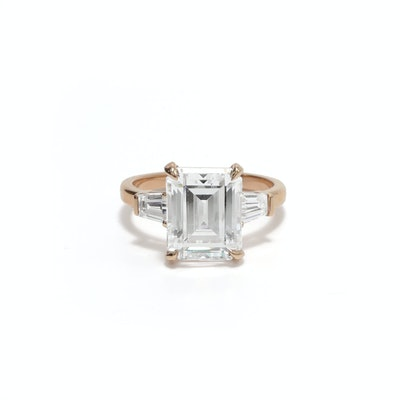 Grace Emerald Cut Engagement Ring