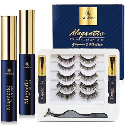 Arishine Reusable Magnetic Eyelashes (5 Pairs)
