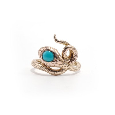 VICTORIAN TURQUOISE SNAKE RING (c. 1890)