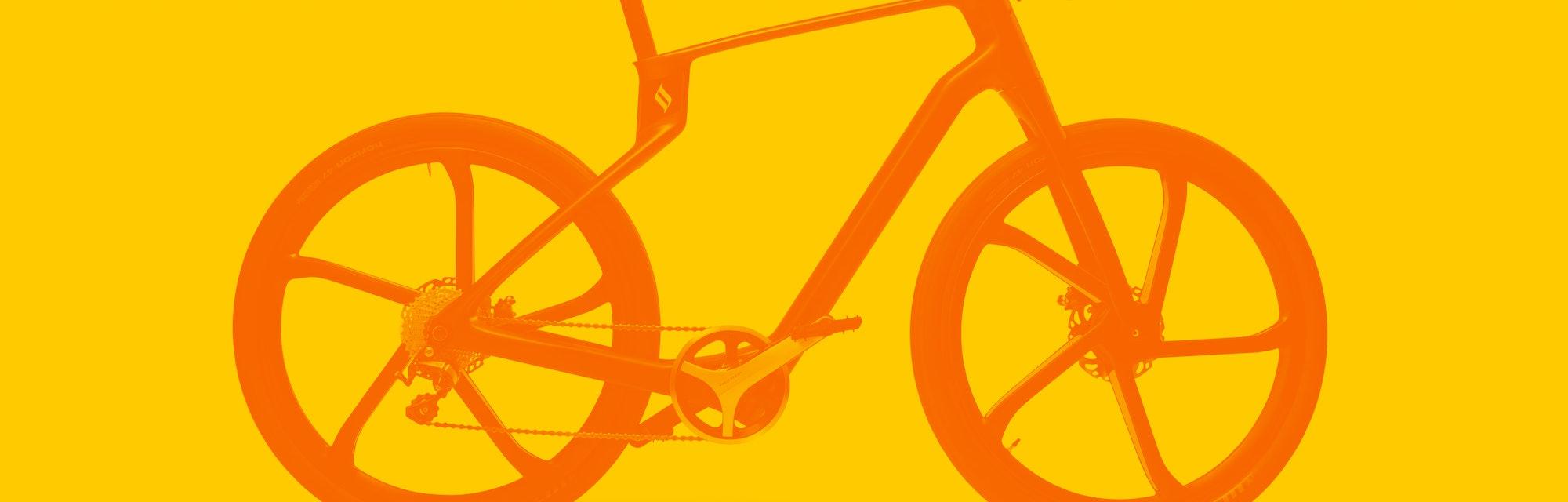 A carbon-fibre 3D-printed e-bike.