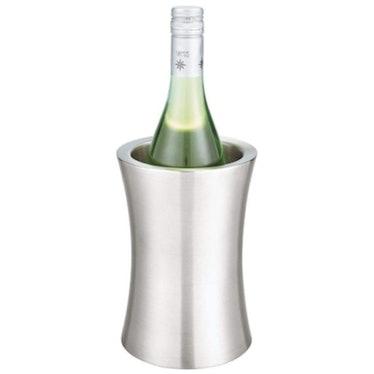 mDesign Modern Metal Wine Bottle Cooler/Chiller Bucket