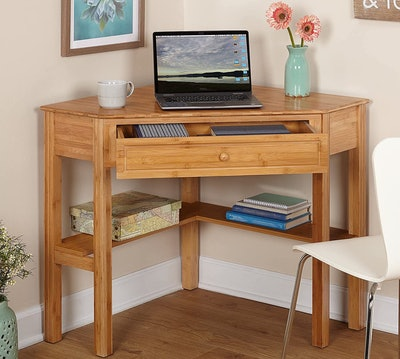 Target Marketing Systems Bamboo Corner Desk