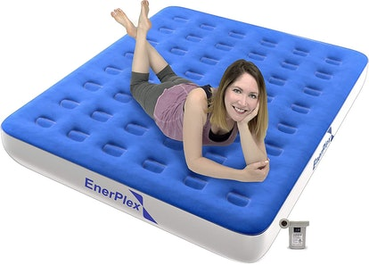 EnerPlex Never-Leak Camping Series Airbed, Queen-Size