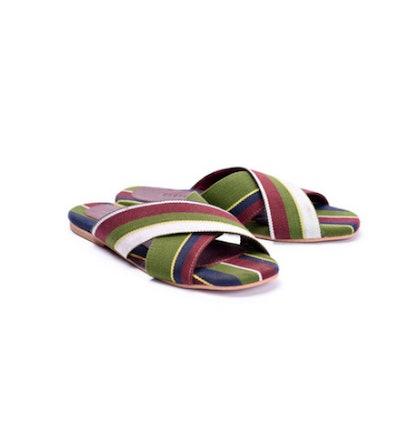 The Nene Cross slippers