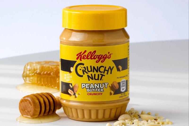 A jar of Crunchy Nut peanut butter