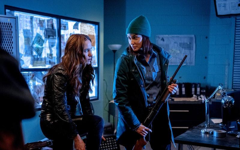 Melanie Scrofano as Wynonna Earp, Katherine Barrell as Officer Nicole Haught in 'Wynonna Earp' Season 4