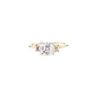 Emerald Cut Triple Diamond Ring