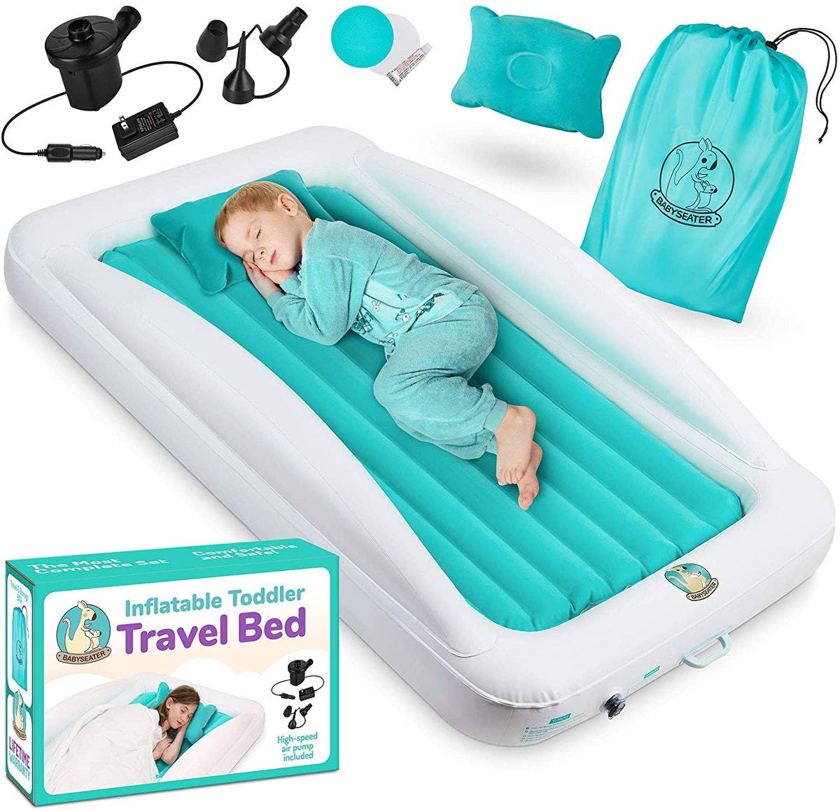 BABYSEATER Toddler Air Mattress with Sides
