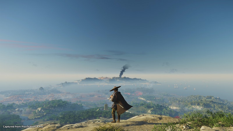screenshot of ghost of tsushima game