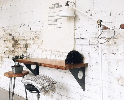 FOF Industrial Rustic Wall-Mounted Table