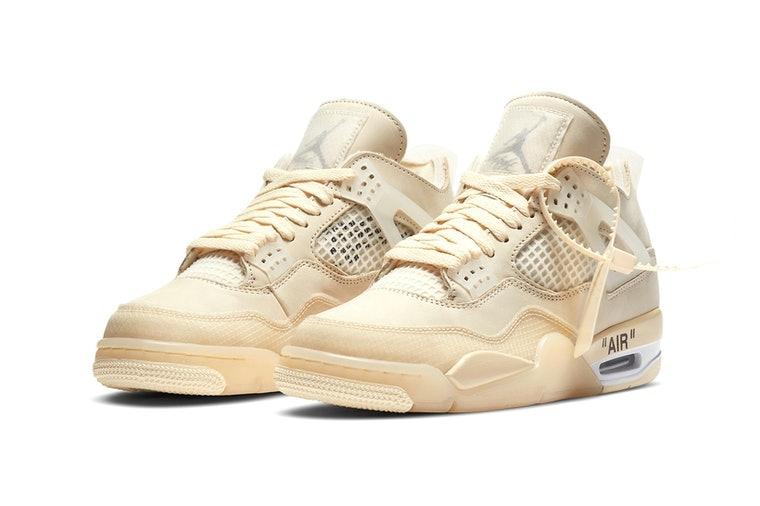 Off-White's New Air Jordan 4 Sneaker Is Breaking Resale Records