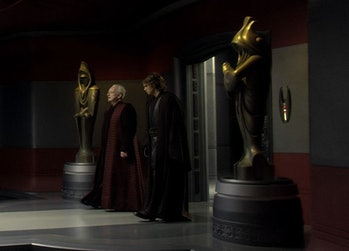 Star Wars Palpatine Revenge of the Sith art statues